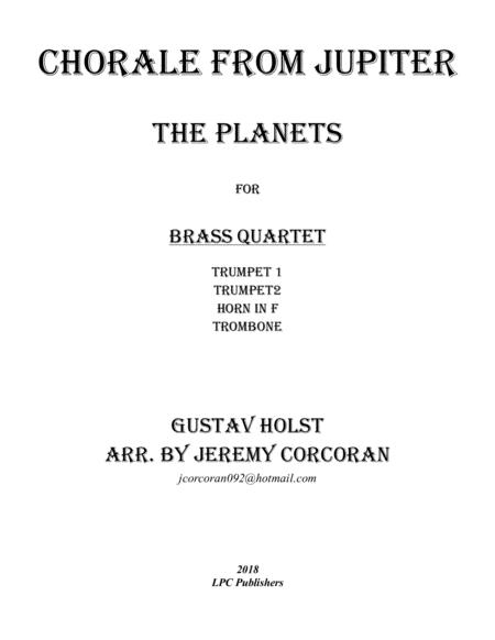 Chorale from Jupiter for Brass Quartet