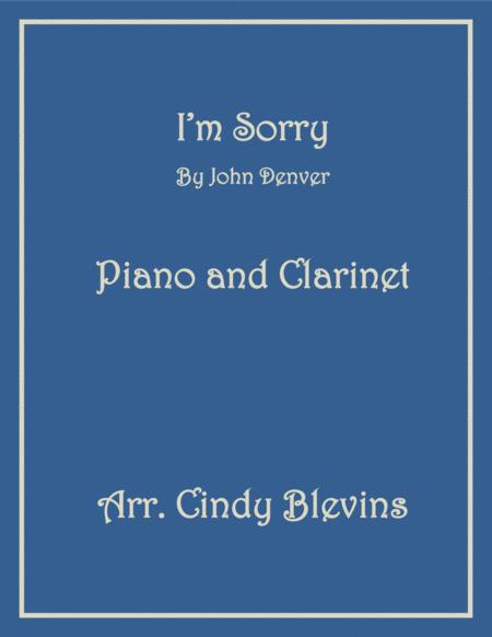 I'm Sorry, for Piano and Clarinet