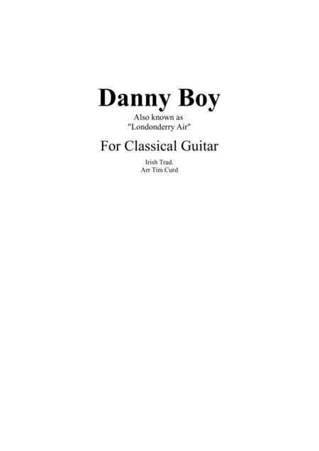 Danny Boy for Classical Guitar