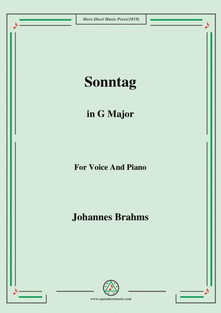 Brahms -Sonntag in G Major for voice and piano