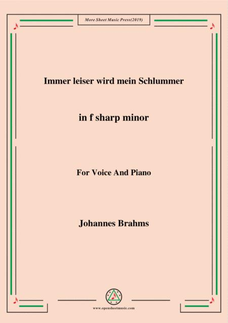 Brahms - Immer leiser wird mein Schlummer in f sharp minor for voice and piano