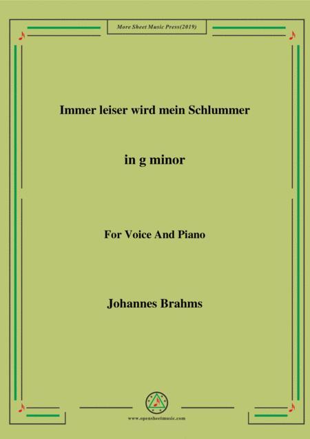 Brahms - Immer leiser wird mein Schlummer in G minor for voice and piano