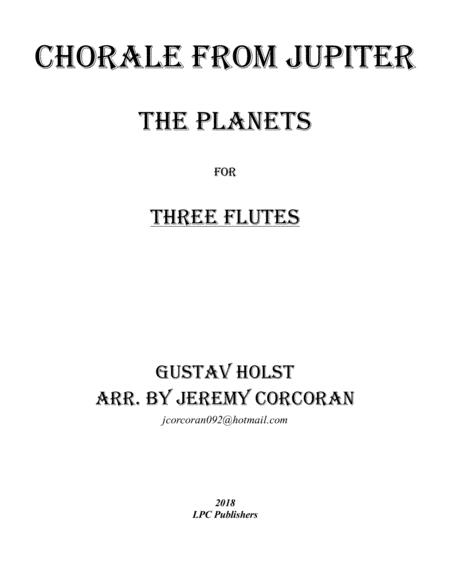 Chorale from Jupiter for Flute Trio