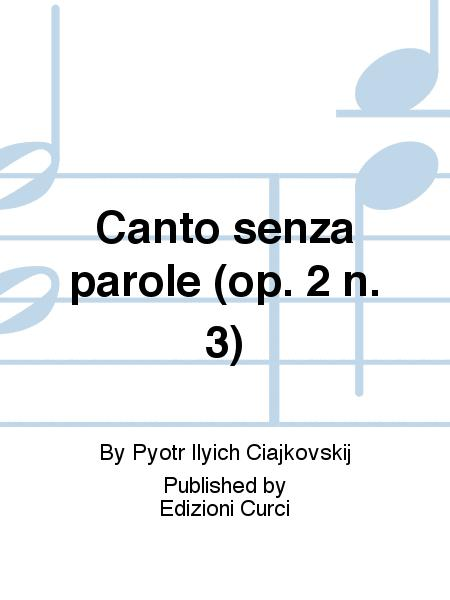 Canto senza parole (op. 2 n. 3)