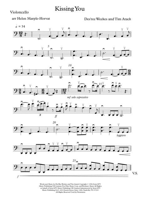 Download KISSING YOU (ROMEO AND JULIET) FOR STRING QUARTET/STRING ...