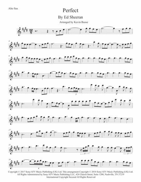 Perfect - Alto Sax