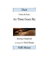 As Time Goes By (Adv. interm. Violin & Piano duet)
