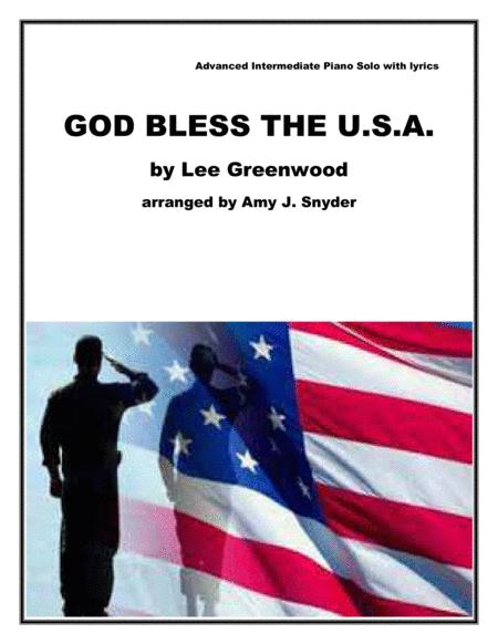 God Bless The U.S.A., piano solo