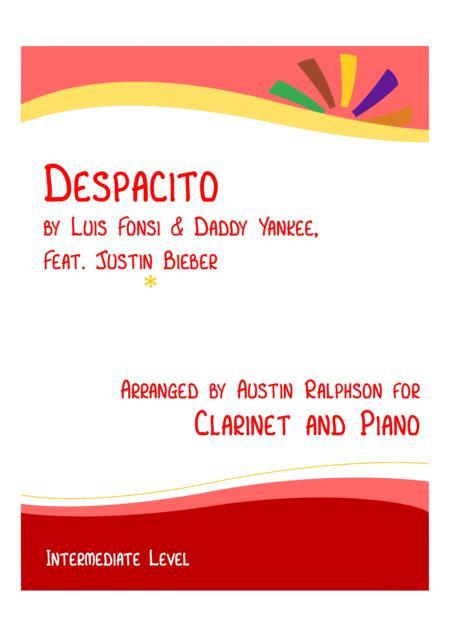 Despacito - clarinet and piano (intermediate level)