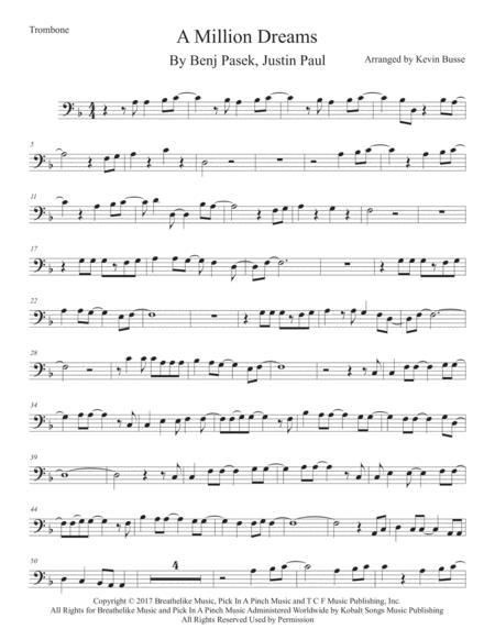 A Million Dreams - Trombone