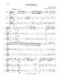 Una panthera in compagnia de Marte (A Panther in company of Mars) arranged for 3 flutes