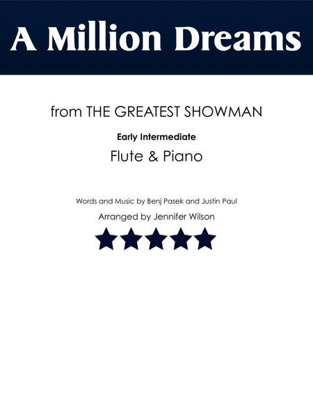 A Million Dreams - Flute & Piano (early intermediate)