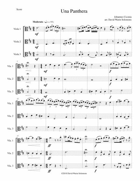 Una panthera in compagnia de Marte (A Panther in company of Mars) arranged for 3 violas