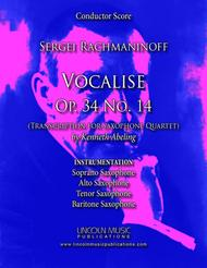 Rachmaninoff - Vocalise Op. 34 No.14 (for Saxophone Quartet SATB)