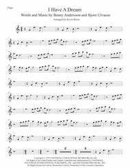 I Have A Dream (Easy key of C) - Flute