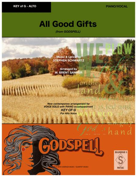 All Good Gifts from Godspell - VOCAL SOLO key of G (for Alto) with PIANO