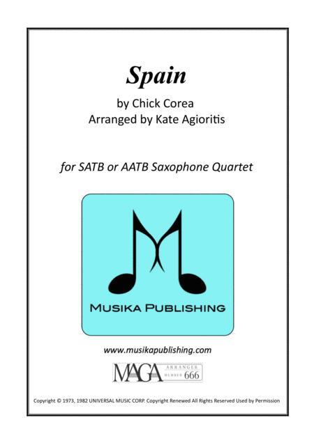 Spain - Chick Corea - for Saxophone Quartet