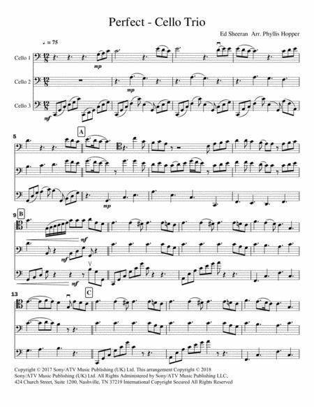 Perfect - for Cello Trio