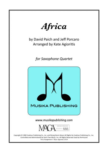 Africa by Toto - for SATB Saxophone Quartet