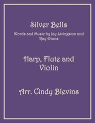 Silver Bells, for Harp, Flute and Violin