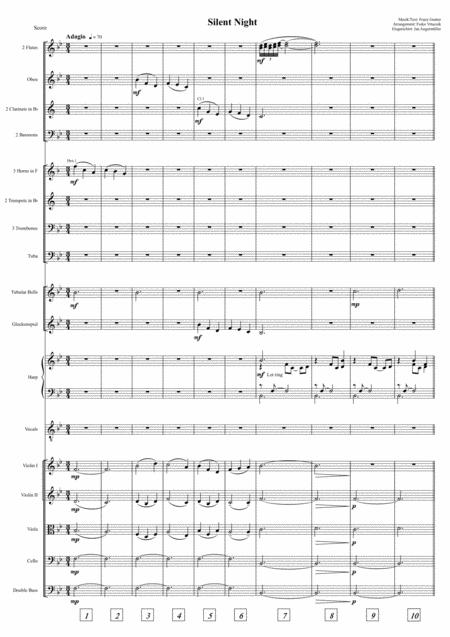 Silent Night / Stille Nacht (Full Orchestra+Solo Vocal, Bb Major, Score and Parts)