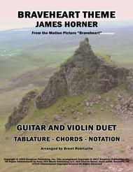Braveheart Theme - Guitar & Violin Duet - Tablature and Notation