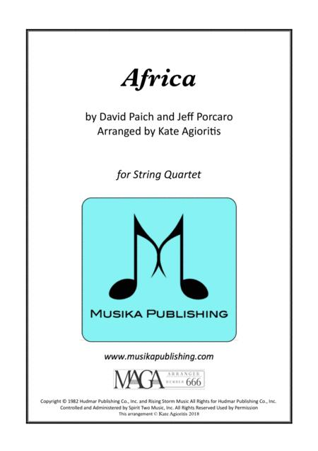Africa by Toto - for String Quartet