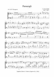 PASSACAGLIA - Frescobaldi - For organ 2 staff