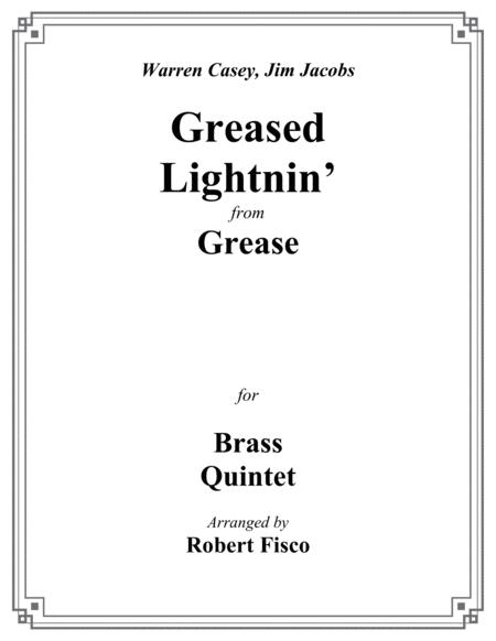Greased Lightnin' (from Grease) for Brass Quintet - Trombone feature