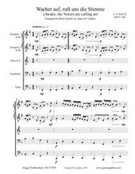 Bach: Wachet auf for Brass Quintet