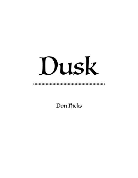 Dusk, a Rock Solo for Violin