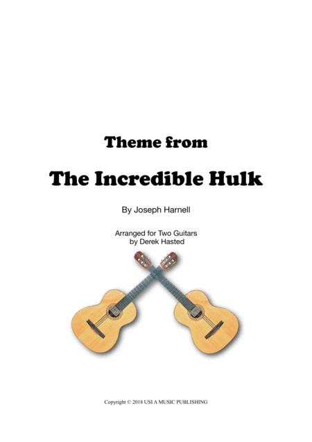 Theme From The Incredible Hulk - for 2 guitars