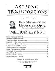 Liederkreis, Op. 39 (in 3 medium keys)
