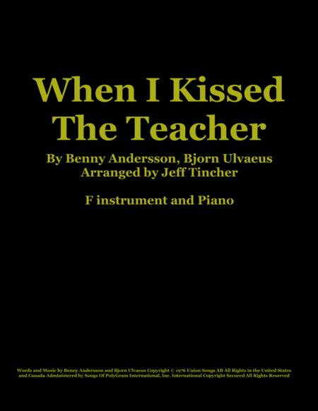 When I Kissed The Teacher