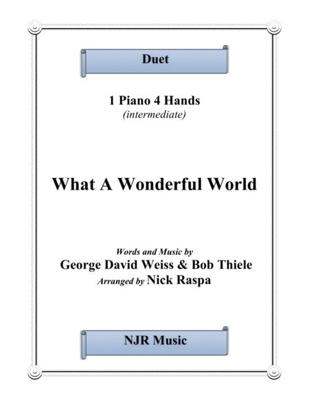 What A Wonderful World (1 piano 4 hands) intermediate