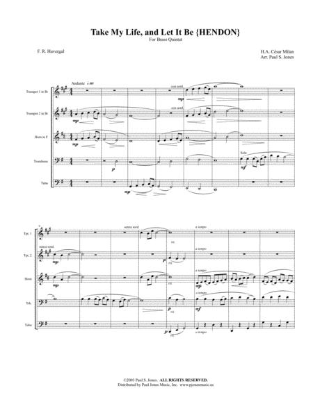 Take My Life and Let It Be (Brass Quintet)