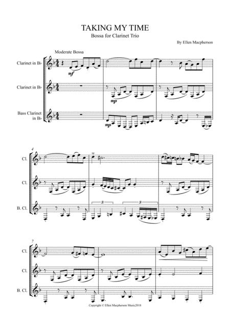 "BOSSA NOVA - ""TAKING MY TIME"" - Clarinet Trio"
