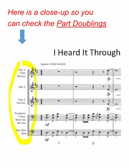 I HEARD IT THROUGH THE GRAPEVINE (Marvin Gaye, 1968) - for pep band, basketball band, jazz combo, small jazz ensemble