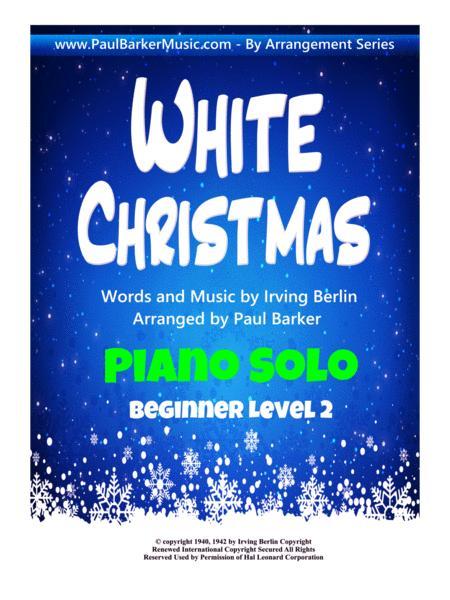 White Christmas  (Beginner Piano Level 2)