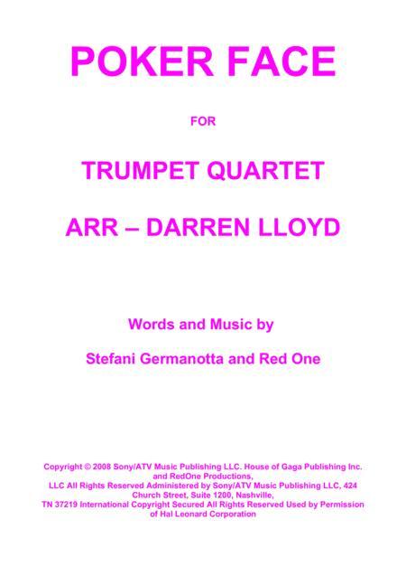 Poker Face for Trumpet Quartet