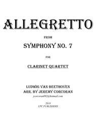 Allegretto from Symphony No. 7 for Clarinet Quartet