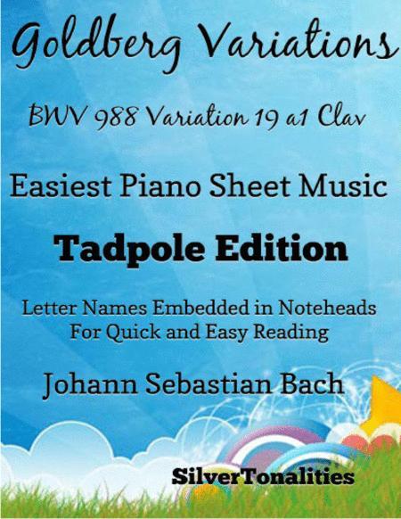 Goldberg Variations BWV 988 Variation 19a1 Clav Easiest Piano Sheet Music