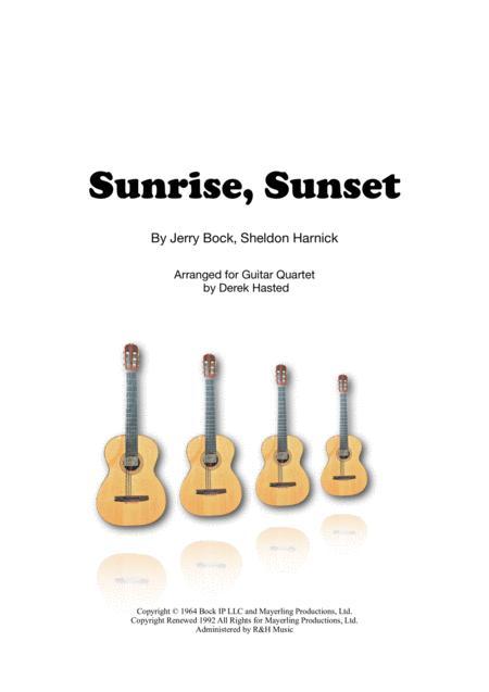 Sunrise, Sunset for 4 guitars/large ensemble