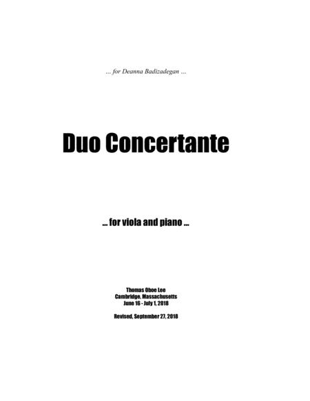 Duo Concertante (2018) for viola and piano