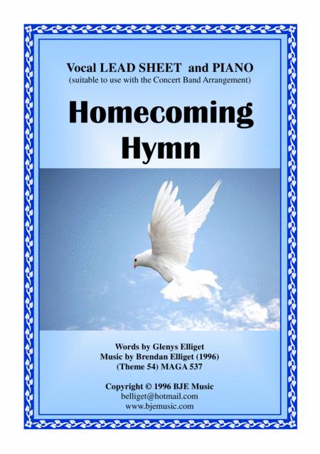 Preview Homecoming Hymn - Piano And Vocal Lead Sheet PDF By Brendan