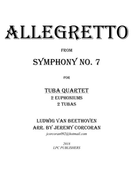 Allegretto from Symphony No. 7 for Tuba Quartet