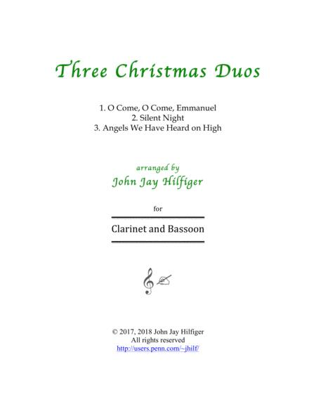 Three Christmas Duos for Clarinet and Bassoon