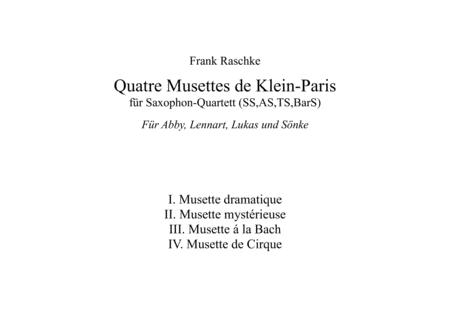 Musette dramatique  (for Saxophone Quartet)
