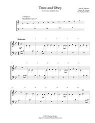 Trust and Obey - for 2-octave handbell choir
