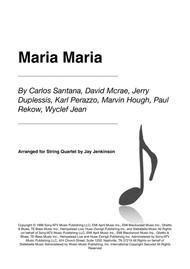 Maria Maria for String Quartet